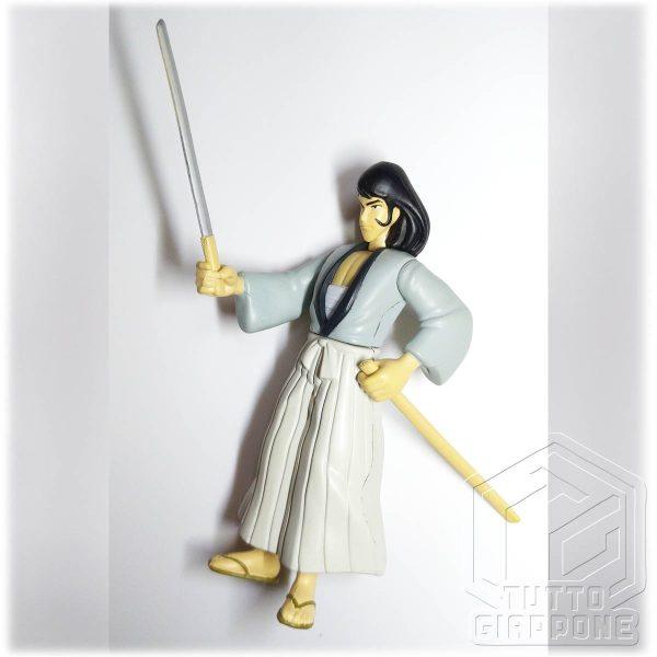 Goemon Ishikawa gashapon action figure 1996 Lupen TuttoGiappone lato