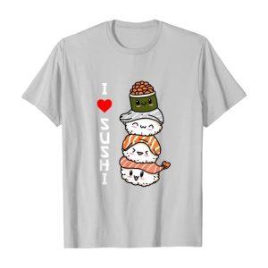 Amo Il Sushi Giappone Cibo Giapponese Maglietta argento TuttoGiappone