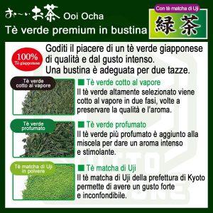 Itoen Oi Tea Premium Te verde in bustina con te matcha di Uji 4 TuttoGiappone 1