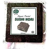 Alga nori da sushi tostata organica, 50 fogli